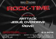 Back2Human presents: Rock Time! live: Arttack & Jesus Overdrive & Move!, 1010 Wien  1. (Wien), 08.03.2014, 20:00 Uhr