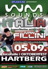 WM-Sounds Italia mit Star-DJ Ivan Fillini | Oktoberfest Hartberg, 8230 Hartberg (Stmk.), 05.09.2014, 21:00 Uhr