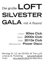Die große Loft Silvestergala (4 floors!), 1160 Wien,Ottakring (Wien), 31.12.2018, 23:00 Uhr