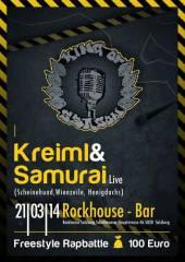 King of Season Freestylebattle + Live-Act: Kreiml & Samurai (Honigdachs/ Schweinehund/ Wienzeile), 5020 Salzburg (Sbg.), 21.03.2014, 21:00 Uhr