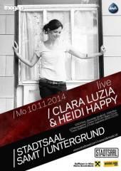 Stadtsaal samt Untergrund / Clara Luzia & Heidi Happy - Konzert, 1060 Wien  6. (Wien), 10.11.2014, 20:00 Uhr