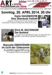 bilder.worte.töne am Ostersonntag, 1200 Wien 20. (Wien), 16.05.2014, 11:30 Uhr