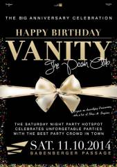 Vanity - The Birthday Celebration, 1010 Wien  1. (Wien), 11.10.2014, 23:00 Uhr