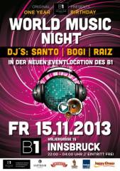 1 Year Birthday Party@B1 Bar Lounge Events, 6020 Innsbruck (Trl.), 15.11.2013, 22:00 Uhr