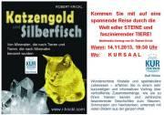Katzengold und Silberfisch, 2540 Bad Vöslau (NÖ), 14.11.2013, 19:30 Uhr