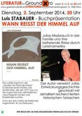 Luis Stabauer Wann reißt der Himmel auf, 1020 Wien  2. (Wien), 02.09.2014, 20:00 Uhr