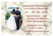 Hochzeitstraum, Hochzeitsmesse-Event, 5163 Mattsee (Sbg.), 18.01.2015, 10:00 Uhr