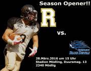 Season Opener!! AFC Rangers Mödling - Hohenems Blue Devils, 2340 Mödling (NÖ), 28.03.2016, 15:00 Uhr