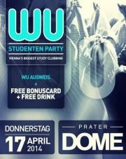 WU Studentenparty // Vienna's Biggest Study Clubbing, 1020 Wien  2. (Wien), 17.04.2014, 22:00 Uhr