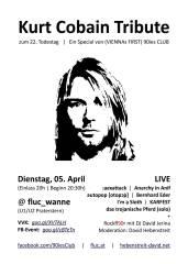 Kurt Cobain Tribute zum 22. Todestag, 1020 Wien,Leopoldstadt (Wien), 05.04.2016, 20:00 Uhr