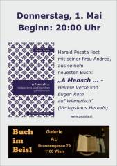 """""""A Mensch  - Heitere Verse von Eugen Roth auf Wienerisch"""", 1160 Wien 16. (Wien), 01.05.2014, 20:00 Uhr"""
