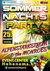 Sommernachts-Party, 6845 Hohenems (Vlbg.), 25.12.2014, 20:30 Uhr