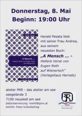 """""""A Mensch  - Heitere Verse von Eugen Roth auf Wienerisch"""", 7100 Neusiedl am See (Bgl.), 08.05.2014, 19:00 Uhr"""