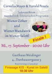 Wiener Zither & Wiener Mundwerk im Wiener Salettl - FINALE, 1040 Wien  4. (Wien), 17.09.2014, 18:30 Uhr