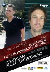 Stadtsaal samt Untergrund Konzert / Jens Friebe & The Florian Horwath Ensemble, 1060 Wien  6. (Wien), 13.10.2014, 20:00 Uhr