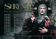 Serenity - War Of Ages Over Europe Tour 2014, 1010 Wien  1. (Wien), 20.04.2014, 18:30 Uhr