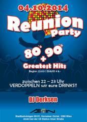 Reunion Party   80s, 90s + aktuelle Hits, 1090 Wien  9. (Wien), 04.10.2014, 22:00 Uhr