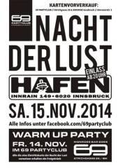 Nacht der Lust, 6020 Innsbruck (Trl.), 15.11.2014, 20:00 Uhr