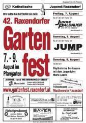 Gartenfest Raxendorf  09, 3654 Raxendorf (NÖ), 07.08.2009, 00:00 Uhr