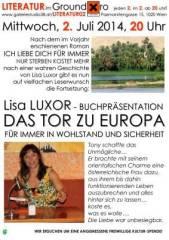Lisa Luxor Das Tor zu Europa Buchpräsentation, 1020 Wien  2. (Wien), 02.07.2014, 20:00 Uhr