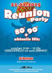 Reunion Party | 80s, 90s + aktuelle Hits, 1090 Wien  9. (Wien), 21.02.2015, 21:30 Uhr
