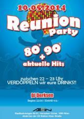Reunion Party | 80s, 90s + aktuelle Hits, 1090 Wien  9. (Wien), 10.05.2014, 22:00 Uhr