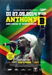 Anthony B. Live, 1090 Wien  9. (Wien), 27.05.2014, 20:00 Uhr