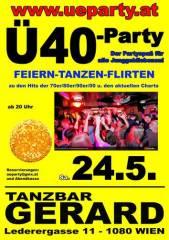 Ü40-Party, 1080 Wien  8. (Wien), 24.05.2014, 20:00 Uhr