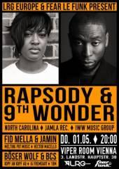 Rapsody & 9th Wonder presented by LRG Europe & Fear le Funk, 1030 Wien  3. (Wien), 01.05.2014, 20:00 Uhr