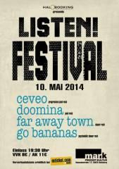Listen! Festival, 5020 Salzburg (Sbg.), 10.05.2014, 19:30 Uhr