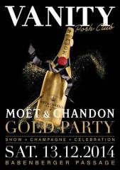 Vanity Moet Gold Party, 1010 Wien  1. (Wien), 13.12.2014, 23:00 Uhr
