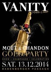 Vanity Moet Gold Party, 1010 Wien  1. (Wien), 13.12.2014, 23:00 Uhr
