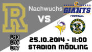 U17 American Football Club Rangers - Grazer Giants, 2340 Mödling (NÖ), 25.10.2014, 17:00 Uhr