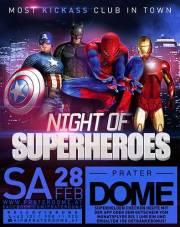 Night of Superheroes, 1020 Wien  2. (Wien), 28.02.2015, 22:00 Uhr