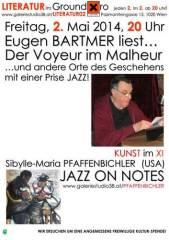 Eugen Bartmer liest Literatur im Ground Xiro, 1020 Wien  2. (Wien), 02.05.2014, 20:00 Uhr