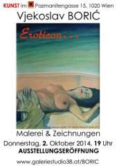 Vjekoslav Boris Eroticon Malerei & Zeichnungen, 1020 Wien  2. (Wien), 30.11.2014, 18:00 Uhr