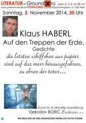 Klaus Haberl Lyrik, 1020 Wien  2. (Wien), 02.11.2014, 20:00 Uhr