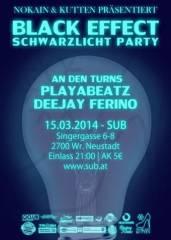 Black Effect - Schwarzlicht-Party, 2700 Wiener Neustadt (NÖ), 15.03.2014, 21:00 Uhr
