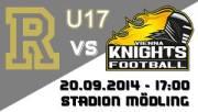 U17 AFC Rangers - Vienna Knights, 2340 Mödling (NÖ), 20.09.2014, 17:00 Uhr
