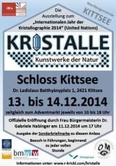 Kristalle - Kunstwerke der Natur, 2421 Kittsee (Bgl.), 14.12.2014, 10:00 Uhr