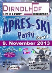 Apres Ski Party Part I, 3204 Kirchberg an der Pielach (NÖ), 09.11.2013, 21:00 Uhr
