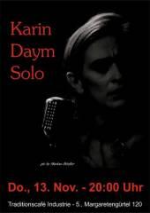Karin Daym Solo im Industrie!, 1050 Wien  5. (Wien), 13.11.2014, 20:00 Uhr