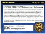 SYSTEMA Werkstatt -- Entspannen u. Aktivieren, 1120 Wien,Liesing (Wien), 15.11.2014, 15:00 Uhr