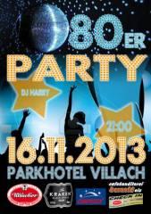 80er Party, 9500 Villach-Innere Stadt (Ktn.), 16.11.2013, 20:00 Uhr