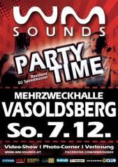 WM-Sounds Partytime | Vasoldsberg bei Graz, 8071 Vasoldsberg (Stmk.), 07.12.2014, 21:00 Uhr