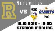 U15 AFC Rangers - Grazer Giants, 2340 Mödling (NÖ), 10.10.2015, 15:00 Uhr