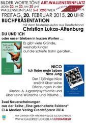 Christian Lukas-Altenburg und Jungautor Nico aus Deutschland präsentieren ihre Bestseller in Wien!, 1200 Wien 20. (Wien), 20.02.2015, 20:00 Uhr