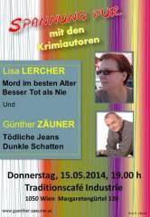 Krimilesung mit Lisa Lercher & Günther Zäuner im Industrie, 1050 Wien  5. (Wien), 15.05.2014, 19:00 Uhr