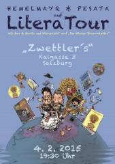 Harald Pesata & Christian Hemelmayr auf LiteraTour!, 5020 Salzburg (Sbg.), 04.02.2015, 19:30 Uhr