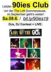 90ies Club mit Live: Kids of the 90s!, 1160 Wien,Ottakring (Wien), 08.06.2019, 21:45 Uhr